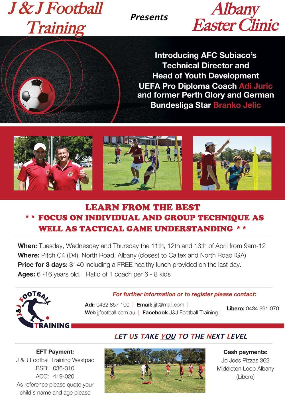 J&J Easter Football clinic in Albany – J&J Football Training